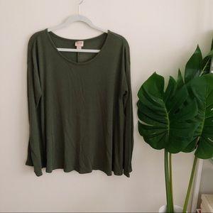Tops - Olive Long Sleeve Shirt